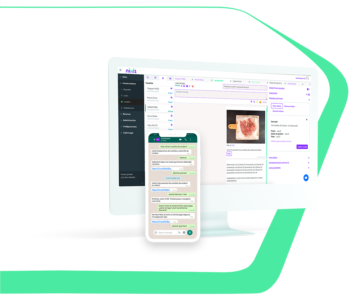 Mockup chat WhatsApp desktop